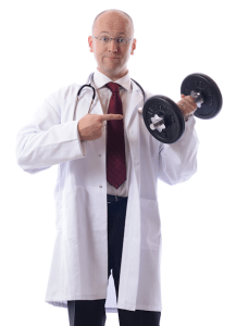 doctor with barbell 450